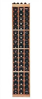 Wine Cellar Designer Series 60 Bottle Floor Wine Rack; Premium Redwood Midnight Stain