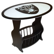 Fan Creations NFL Logo End Table; Oakland Raiders