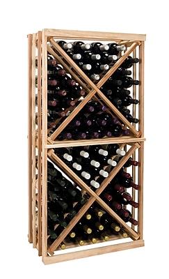 Wine Cellar Vintner Series 96 Bottle Floor Wine Rack; Midnight Black