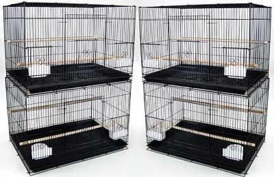 YML Lot of Four Medium Bird Cage (Set of 4); Black