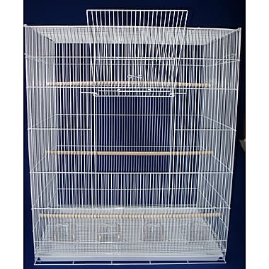 YML Lot of Four Large Bird Cage; White