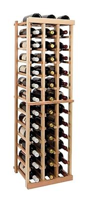 Wine Cellar Vintner Series 39 Bottle Floor Wine Rack; Dark Walnut