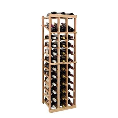 Wine Cellar Vintner Series 36 Bottle Floor Wine Rack; Classic Mahogany