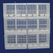 YML Lot of Six Small Bird Cage w/ Divider; White