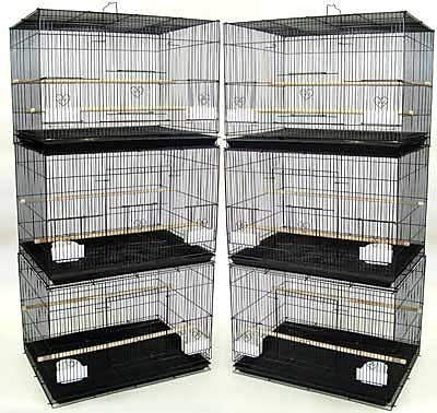 YML Lot of Six Small Bird Cage; Black WYF078276387736