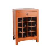 Antique Revival 16 Bottle Floor Wine Cabinet; Orange