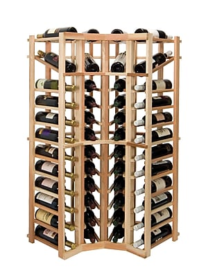 Wine Cellar Vintner Series 44 Bottle Floor Wine Rack; Midnight Black