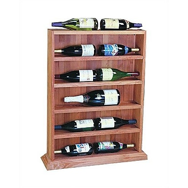 Wine Cellar Designer Series 12 Bottle Floor Wine Rack; Unstained Premium Redwood
