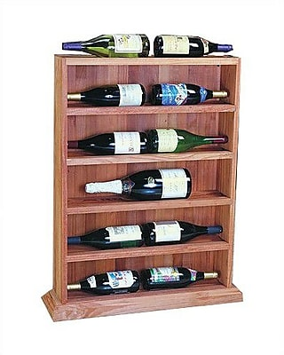 Wine Cellar Designer Series 12 Bottle Floor Wine Rack; Midnight Black Stained Premium Redwood