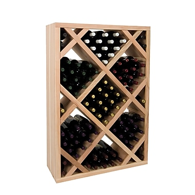 Wine Cellar Vintner Series 151 Bottle Floor Wine Rack; Dark Walnut
