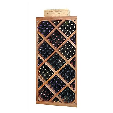 Wine Cellar Designer Series Diamond 212 Bottle Floor Wine Rack; Classic Stained Premium Redwood