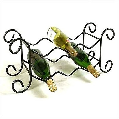 Grace 6 Bottle Tabletop Wine Rack; Satin Black