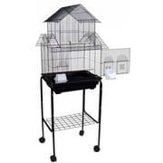 YML Pagoda Small Bird Cage w/ Stand; Black