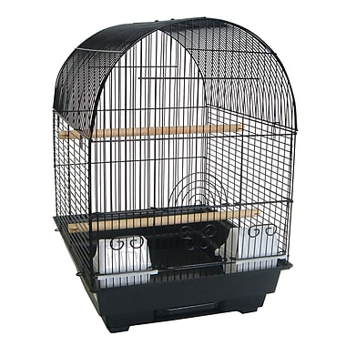 YML Round Dome Top Bird Cage; Black