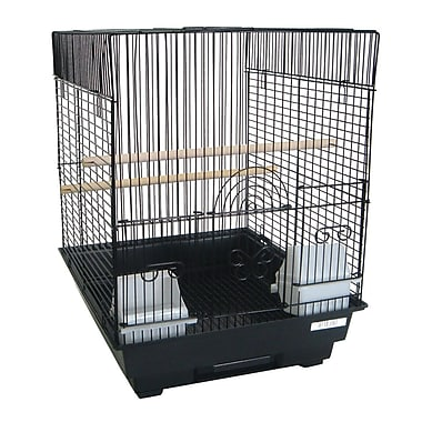 YML Flat Top Bird Cage; Black
