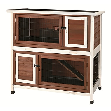 Trixie Natura 2 Story Small Animal Hutch; Brown / White