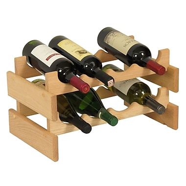 Wooden Mallet Dakota 8 Bottle Tabletop Wine Rack; Unfinished
