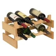 Wooden Mallet Dakota 8 Bottle Tabletop Wine Rack; Unfinished
