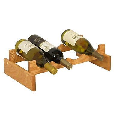 Wooden Mallet Dakota 4 Bottle Tabletop Wine Rack; Light Oak