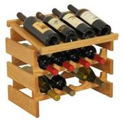 Wooden Mallet Dakota 12 Bottle Tabletop Wine Rack; Light Oak