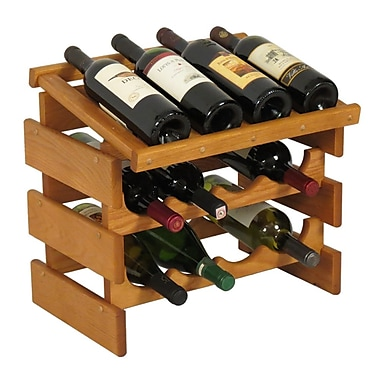 Wooden Mallet Dakota 12 Bottle Tabletop Wine Rack; Medium Oak