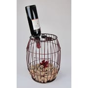 Metrotex Designs Industrial Evolution 3 Bottle Tabletop Wine Rack; Rich Merlot