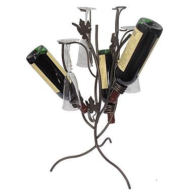 Metrotex Designs Grapevine Stem Tree 3 Bottle Tabletop Wine Rack; Meteor