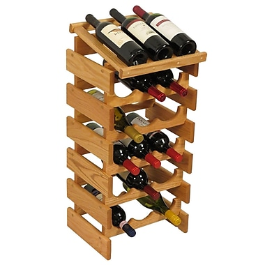 Wooden Mallet Dakota 18 Bottle Floor Wine Rack; Light Oak
