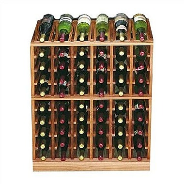 Wine Cellar Designer Series 60 Bottle Floor Wine Rack; Dark Stained Premium Redwood