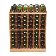 Wine Cellar Designer Series 60 Bottle Floor Wine Rack; Unstained Premium Redwood
