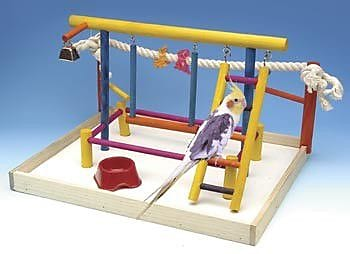 Penn Plax Extra Large Wooden Playground Bird Activity Center WYF078276468444