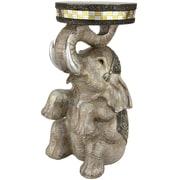 Oriental Furniture Sitting Elephant Statue