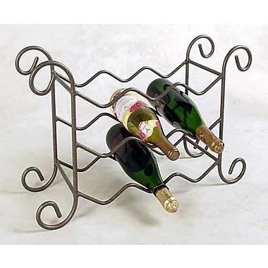 Grace 9 Bottle Tabletop Wine Rack; Aged Iron