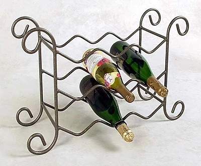 Grace 9 Bottle Tabletop Wine Rack; Jade Teal