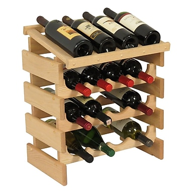 Wooden Mallet Dakota 16 Bottle Tabletop Wine Rack; Unfinished