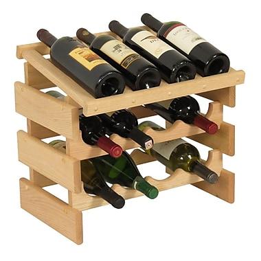 Wooden Mallet Dakota 12 Bottle Tabletop Wine Rack; Unfinished
