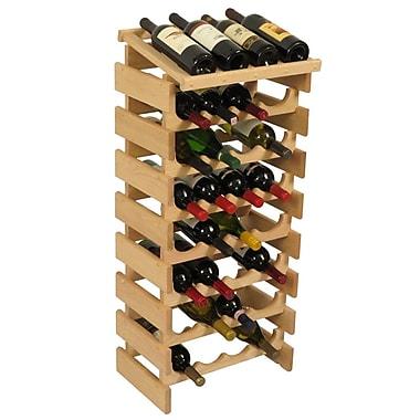 Wooden Mallet Dakota 32 Bottle Floor Wine Rack; Unfinished