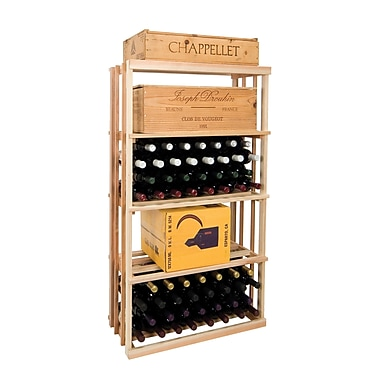 Wine Cellar Vintner Series 120 Bottle Floor Wine Rack; Midnight Black