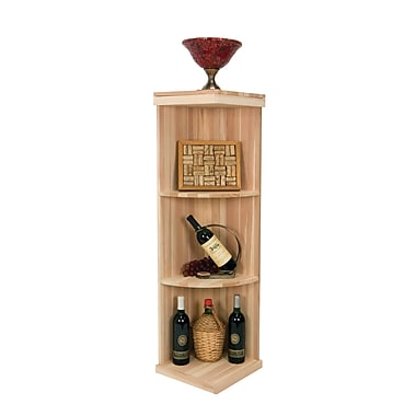 Wine Cellar Vintner Series 3 Bottle Floor Wine Rack; Dark Walnut