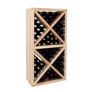 Wine Cellar Vintner Series 78 Bottle Floor Wine Rack; Classic Mahogany