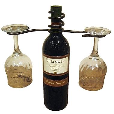 Metrotex Designs 1 Bottle Tabletop Wine Rack; Meteor