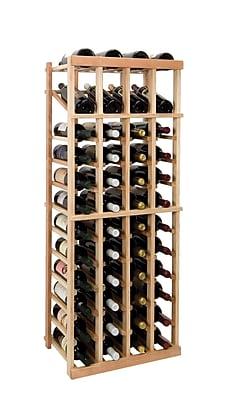 Wine Cellar Vintner Series 48 Bottle Floor Wine Rack; Dark Walnut