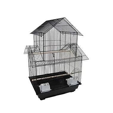 YML Pagoda Top Bird Cage; Black