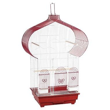 Prevue Hendryx Casbah Parakeet Bird Cage; Red