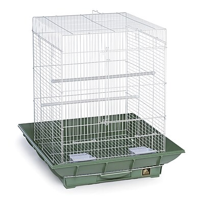 Prevue Hendryx Clean Life Cockatiel Bird Cage; Green / White WYF078276375327