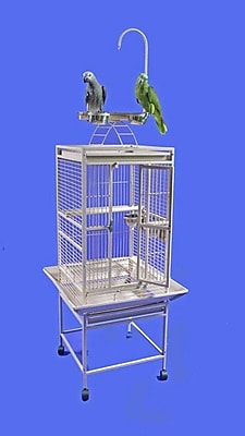 A&E Cage Co. Small Play Top Bird Cage; Black