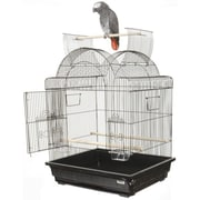 A&E Cage Co. Open Play Top Victorian Small  Bird Cage; Ivory