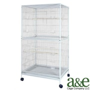 A&E Cage Co. Extra Large Flight Bird Cage; Black