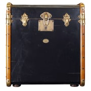 Authentic Models Stateroom End Table; Black with Honey