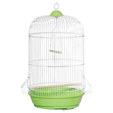 Prevue Hendryx Classic Round Bird Cage; Green